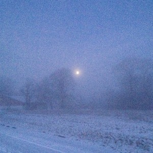 frost tåge måne