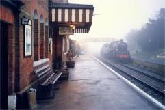empty station train