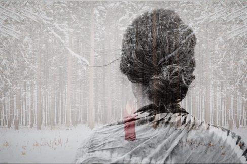 Woman snow woman