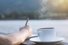 Writing coffee