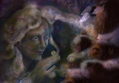 Fairy Healing a Tree_Samhain