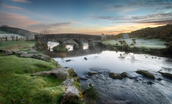 Bellever Bridge on Dartmoor National Park in Devon