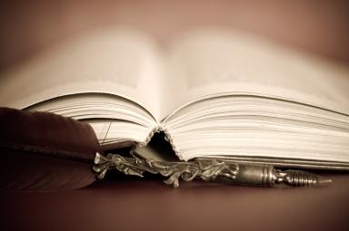 Bog og sølvpen
