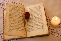 Bog og skrivelys
