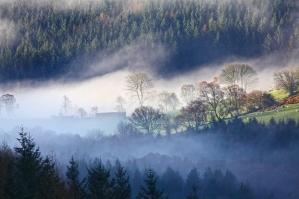 Morning mist Wales