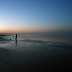 Beach sunset woman