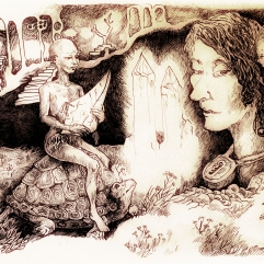 Fairytale landscape sing