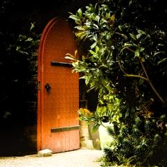 Orange door opening