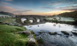 Bellever Bridge on Dartmoor National Park in Devon